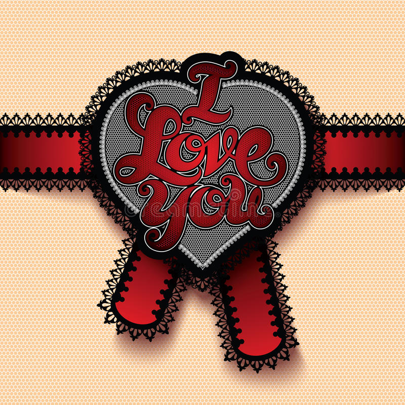 Iloveyou stock illustratie
