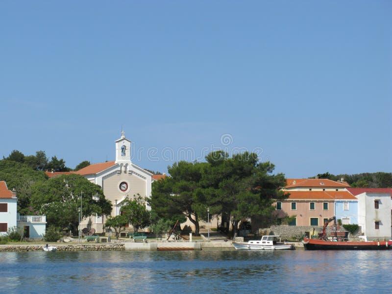 Ilovik彼得和保罗教会在克罗地亚 免版税图库摄影