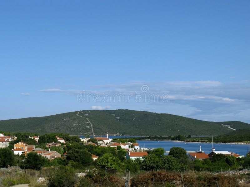 ilovik de la Croatie photographie stock