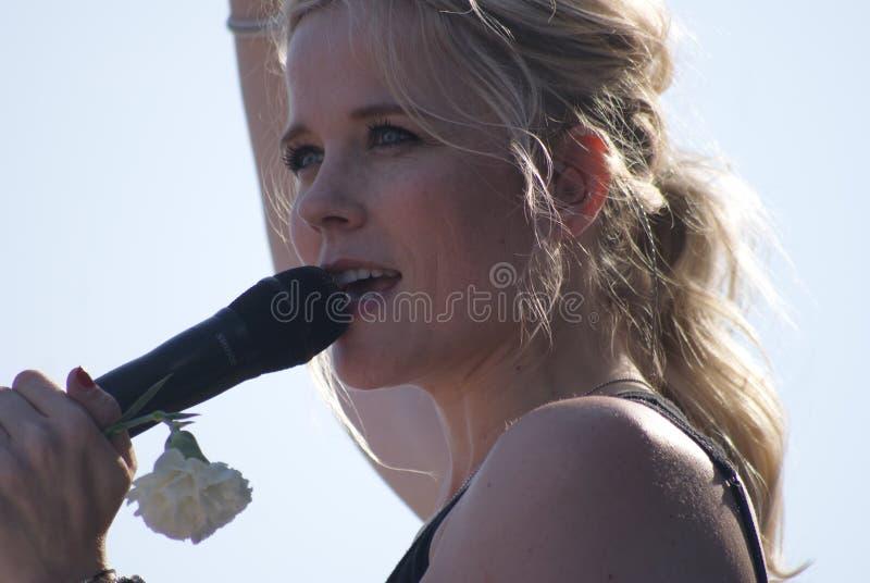 Ilse de Lange. On Veterensday in The Netherlands stock photo