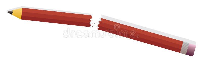ilskablyertspenna vektor illustrationer