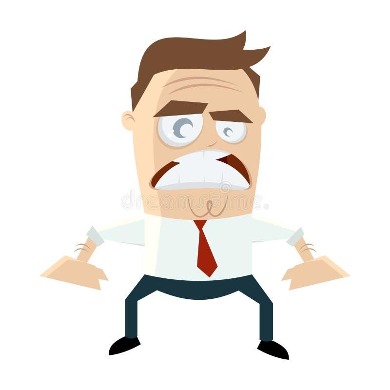 ilsken affärsman vektor illustrationer