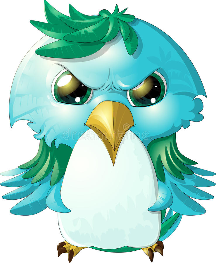 Ilsken bird royaltyfri illustrationer