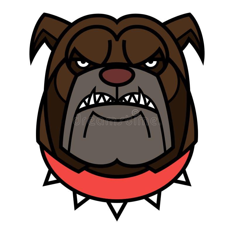 Ilsken bulldogg royaltyfri illustrationer