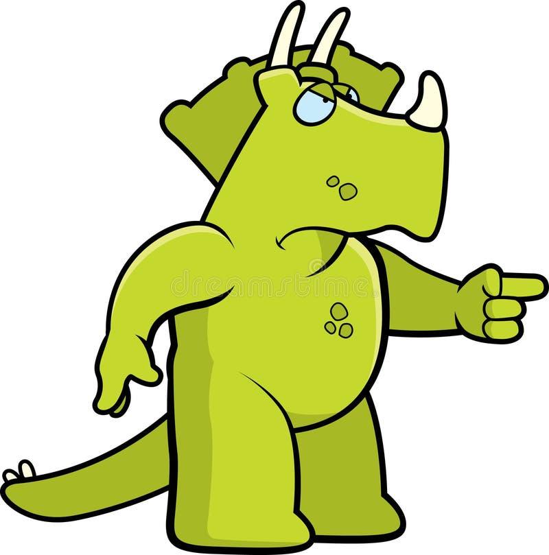 ilsken dinosaur stock illustrationer