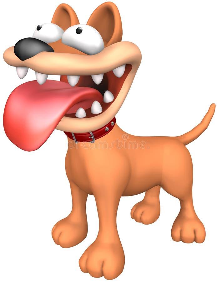 ilsken hund royaltyfri illustrationer