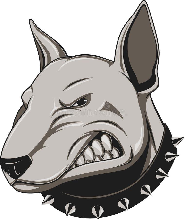 Ilsken hund stock illustrationer