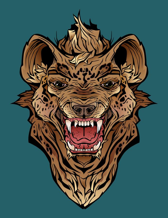 Ilsken hyena stock illustrationer
