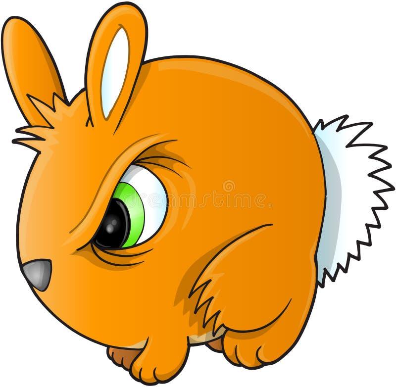 Ilsken kaninvektor vektor illustrationer