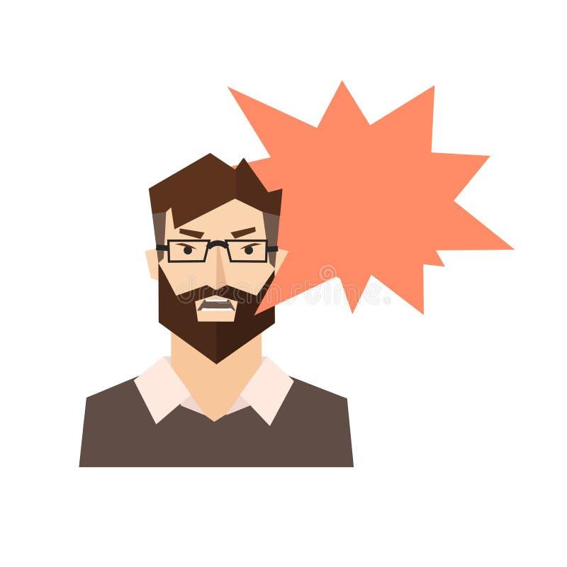 Ilsken man Skream vektor vektor illustrationer