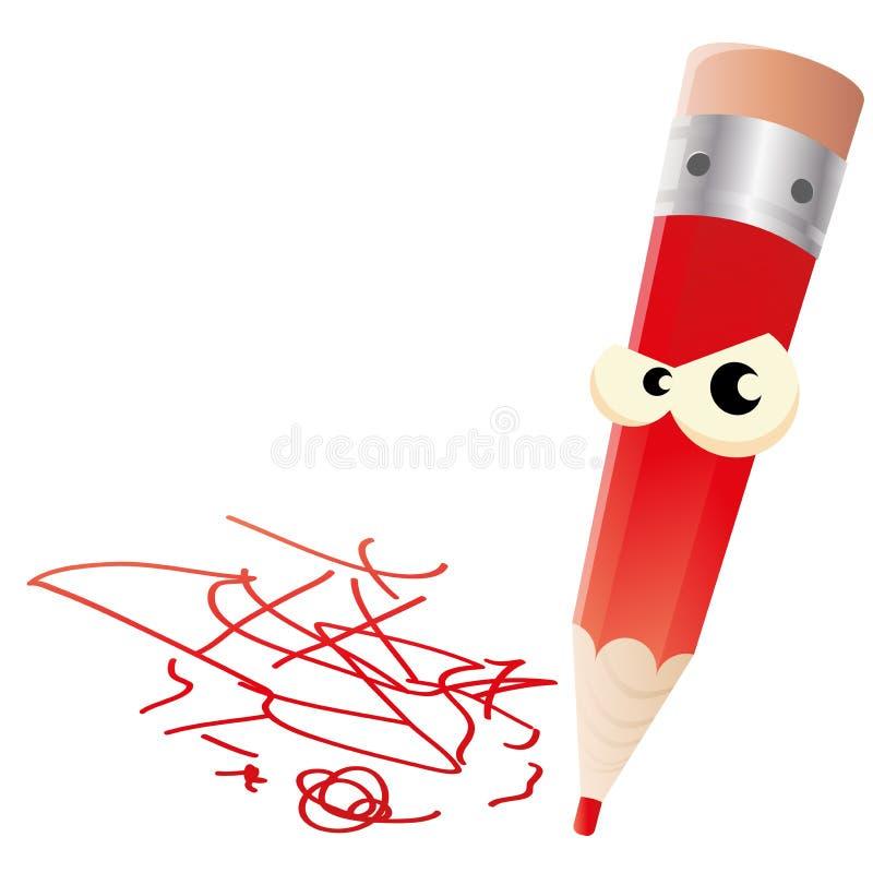 Ilsken penna stock illustrationer