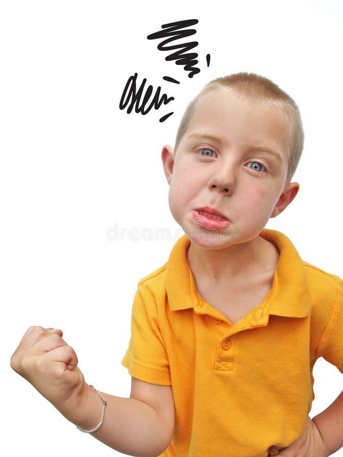ilsken pojke arkivfoton