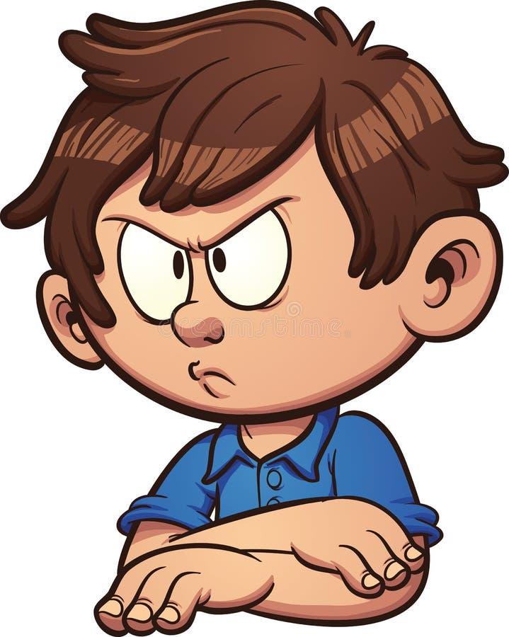 Ilsken pojke vektor illustrationer