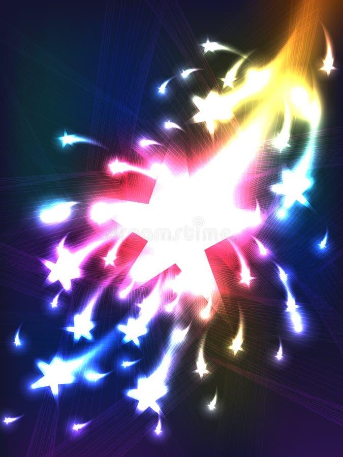 Ilsken stjärna vektor illustrationer