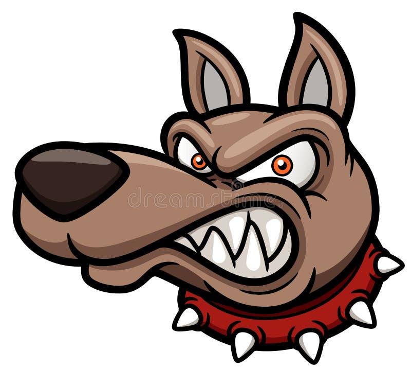 Ilsken tecknad filmhund royaltyfri illustrationer