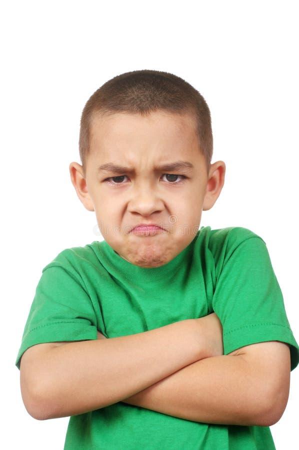 ilsken unge som ser dig royaltyfria bilder