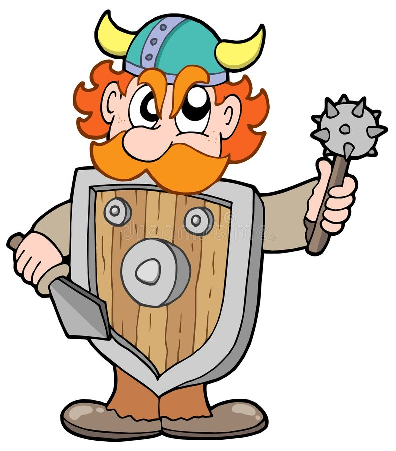 ilsken viking krigare royaltyfri illustrationer