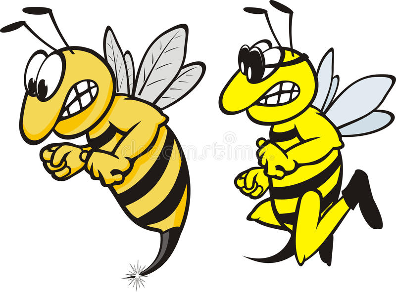 ilsken wasp stock illustrationer