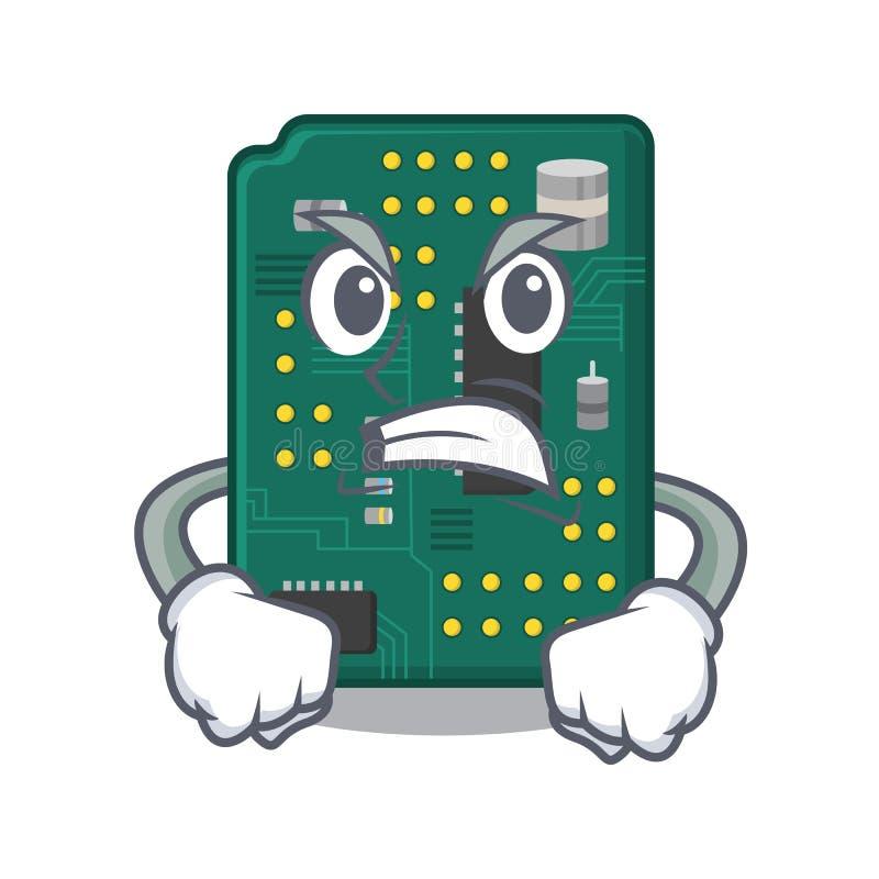 Ilsket PCB-str?mkretsbr?de i PCtecken stock illustrationer