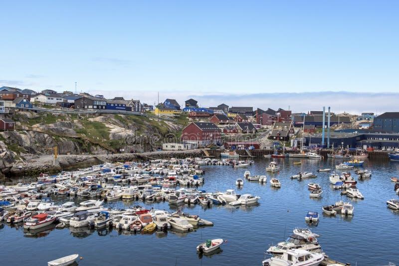 Ilulissat Grönland royaltyfria foton