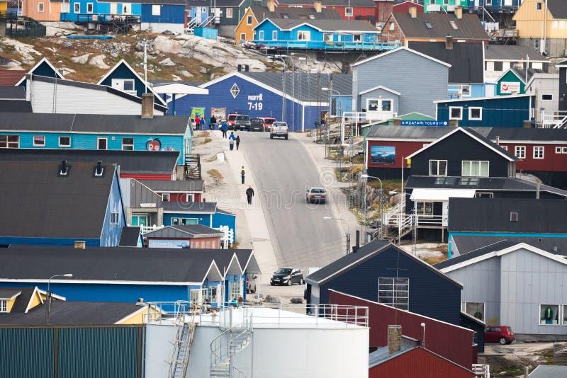 Ilulissat, Groenlandia immagine stock