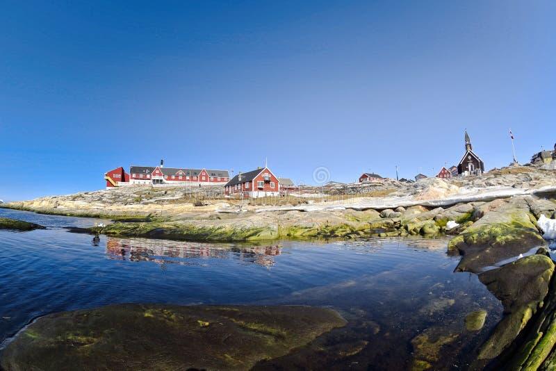 Ilulissat Icefjord i det arktiska havet i Grönland arkivfoto