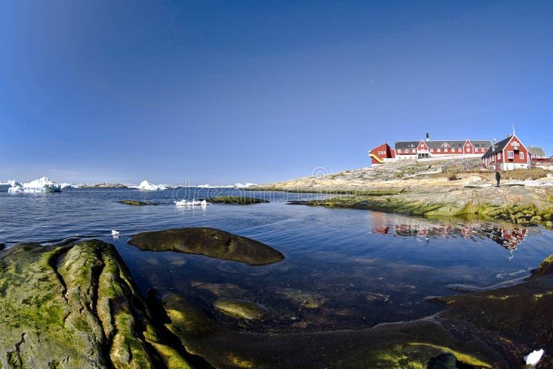 Ilulissat Icefjord i det arktiska havet i Grönland arkivbild