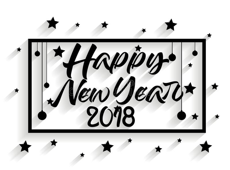 Ilulustration de vecteur de la bonne année 2018 illustration stock