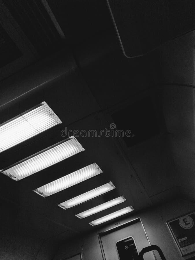 Iluminação abstrata do transporte do trem imagens de stock