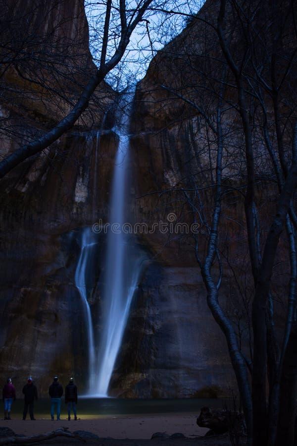 Iluminação acima da noite fotos de stock royalty free