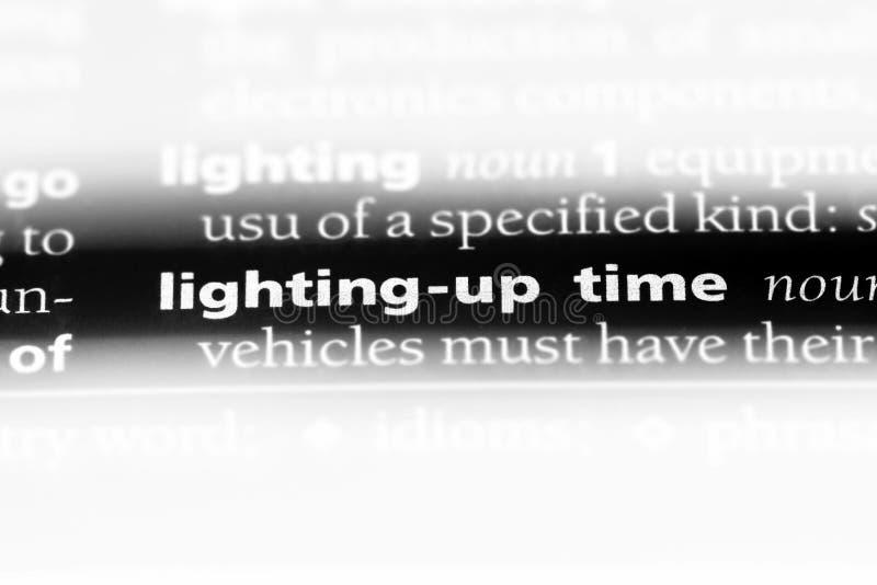 iluminação acima do tempo fotos de stock