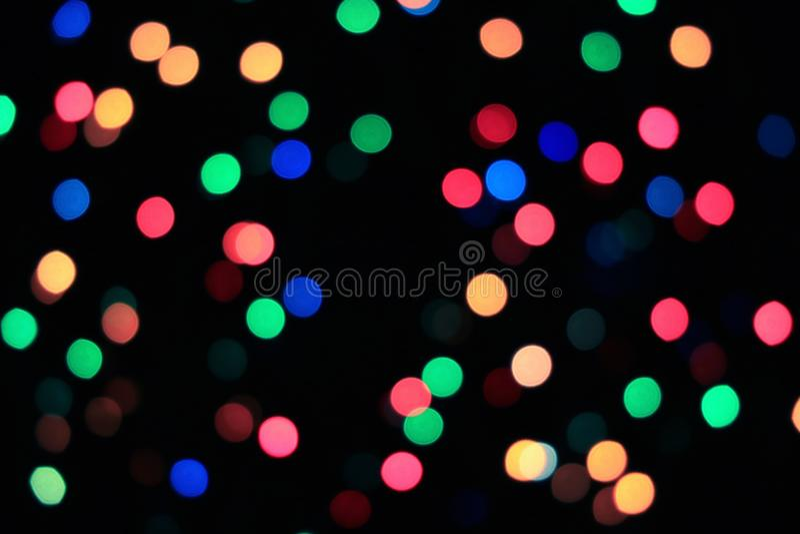 iluminação borrada e Bokeh iluminada do sumário da Multi-cor imagens de stock