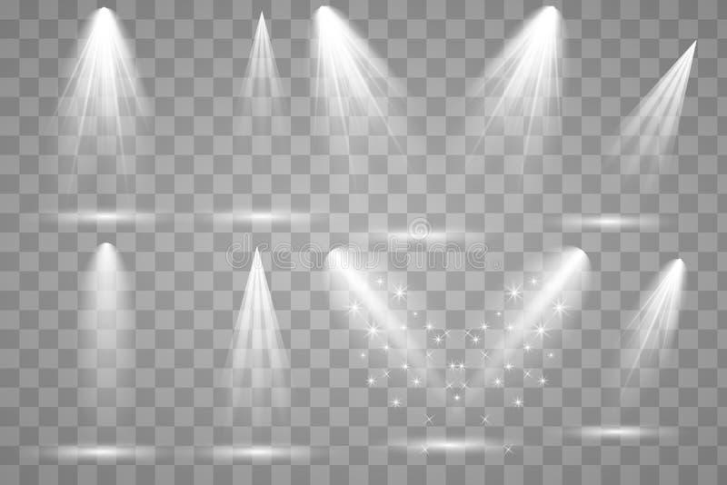 Iluminação brilhante com projetores ilustração royalty free