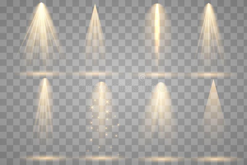 Iluminação brilhante com projetores ilustração do vetor