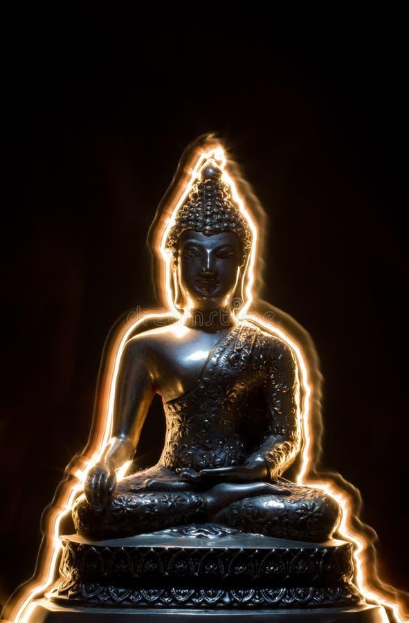 Iluminação buddha imagem de stock royalty free