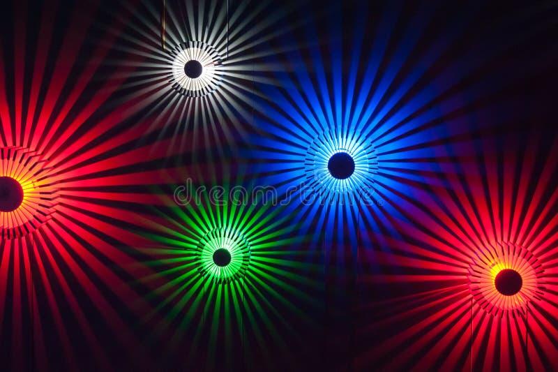 Iluminação colorida foto de stock royalty free
