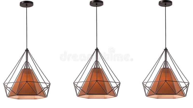 Iluminação conduzida moderna do teto do candelabro imagem de stock