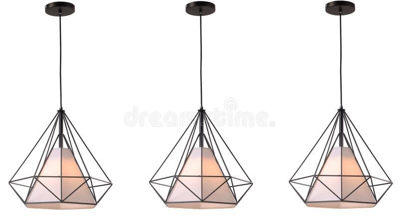 Iluminação conduzida moderna do teto do candelabro fotografia de stock
