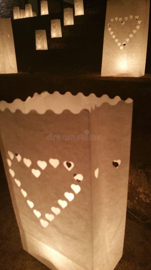 Iluminação da escadaria no local de encontro do casamento imagens de stock royalty free