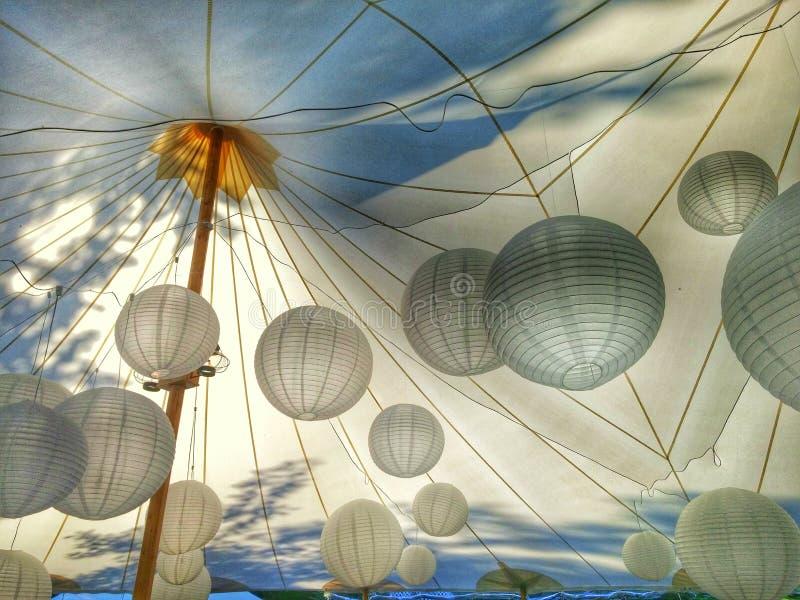 Iluminação da esfera da barraca fotos de stock