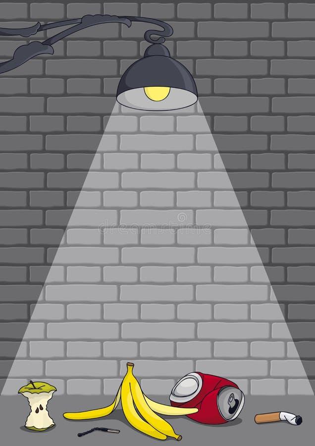 Iluminação de rua ilustração royalty free