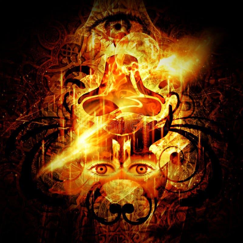 Iluminação divina ilustração stock