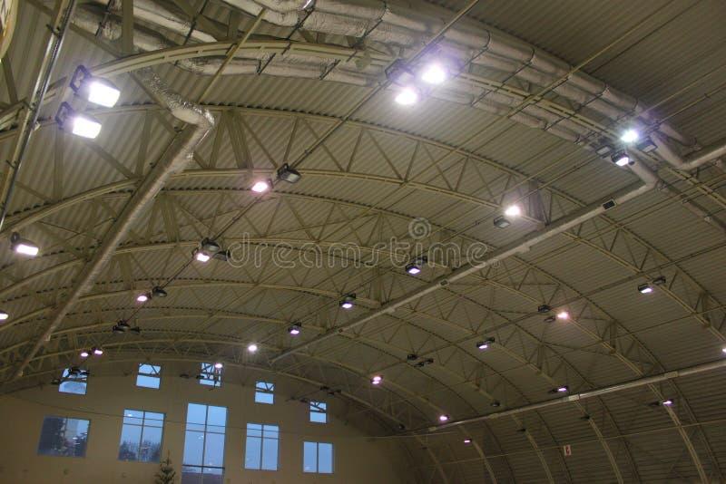 Iluminação do armazém foto de stock