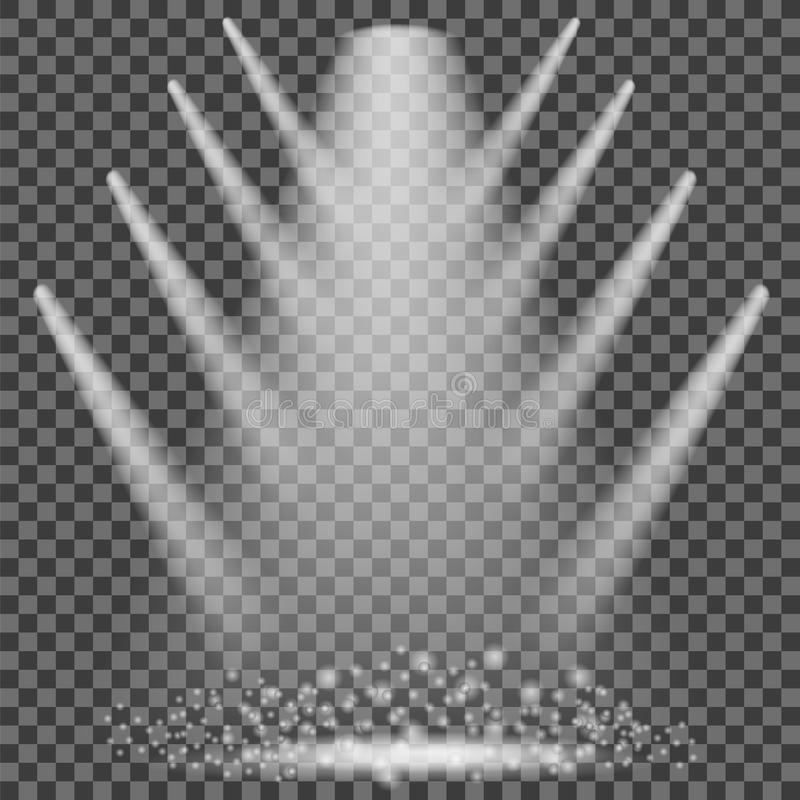 iluminação do concerto Fundo dos projetores da fase ilustração do vetor