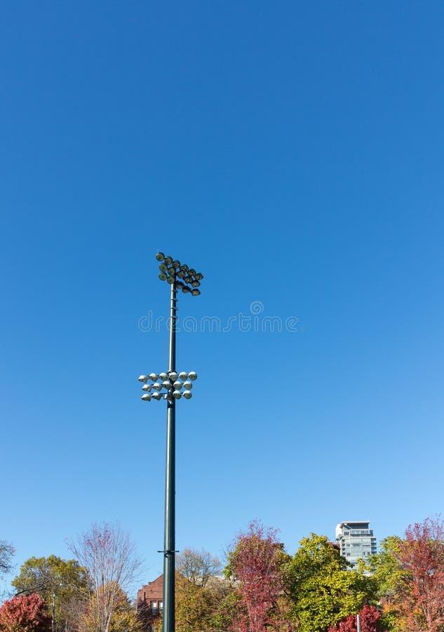 Iluminação do estádio imagens de stock royalty free