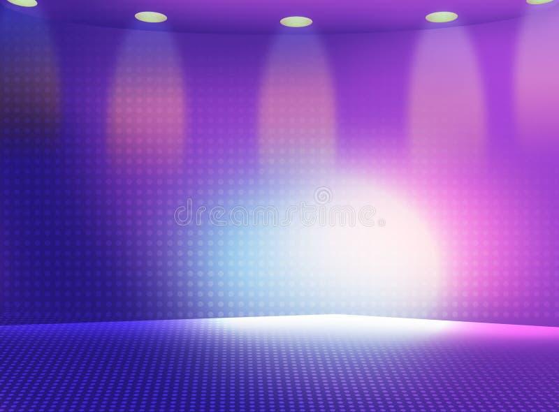Iluminação do estágio ilustração do vetor