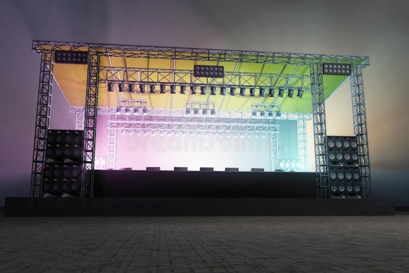 Iluminação do estágio foto de stock