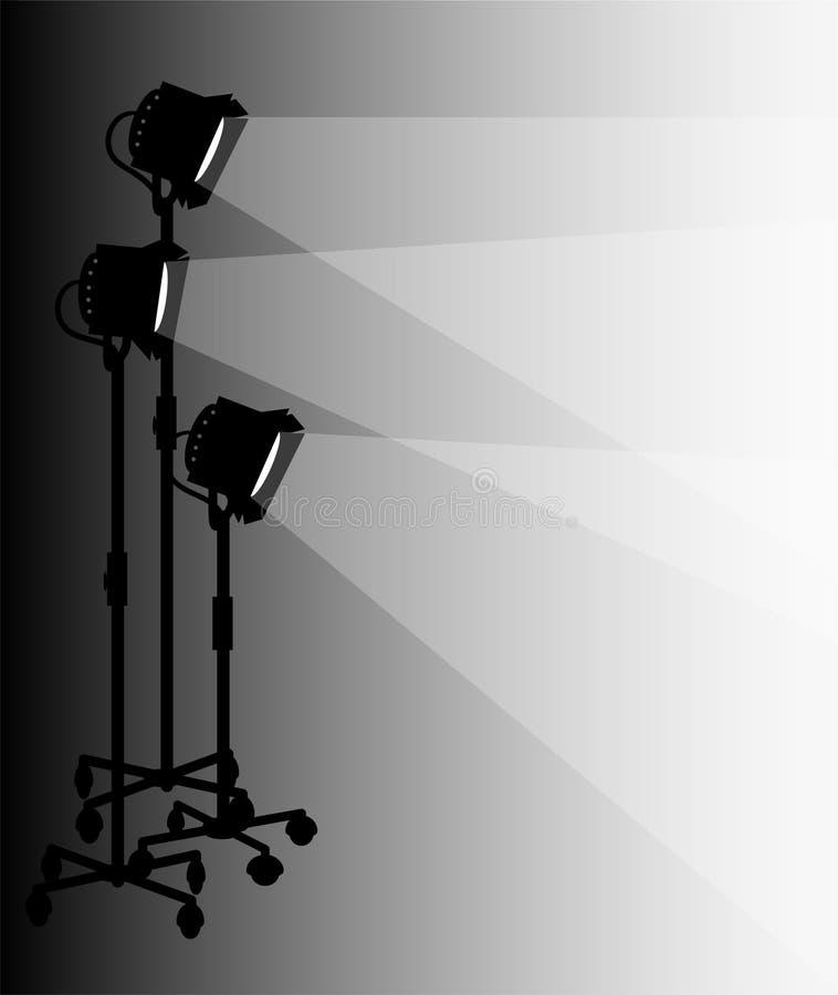 Iluminação do estágio/eps ilustração royalty free
