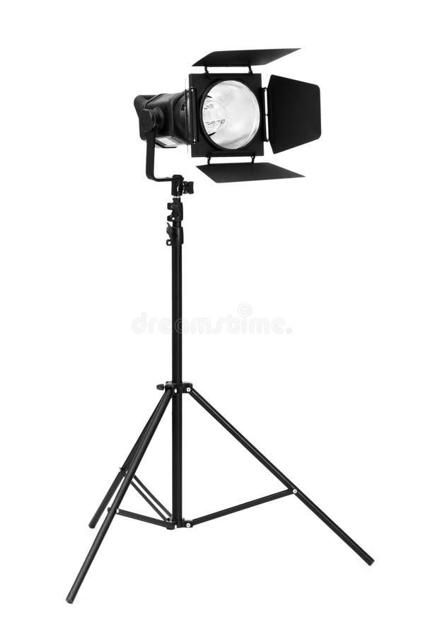 Download Iluminação Do Estúdio Isolada No Branco Imagem de Stock - Imagem de flash, tiro: 12813925
