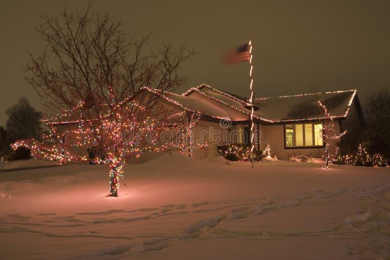 Iluminação do Natal imagens de stock